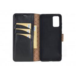 Bouletta Wallet Case Deri Telefon Kılıfı Samsung S20 RST1 Siyah