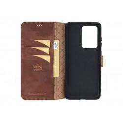 Bouletta Wallet Case Deri Telefon Kılıfı Samsung S20 Ultra G2 Kahverengi
