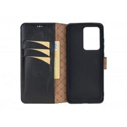 Bouletta Wallet Case Deri Telefon Kılıfı Samsung S20 Ultra RST1 Siyah