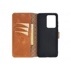 Bouletta Wallet Case Deri Telefon Kılıfı Samsung S20 Ultra TN11 Taba