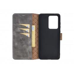 Bouletta Wallet Case Deri Telefon Kılıfı Samsung S20 Ultra TN18EF Gri
