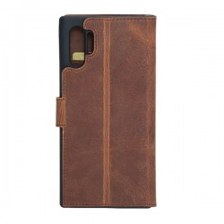 Bouletta Wallet Case Deri Telefon Kılıfı Samsung Note 10+ G2 Kahve RFID