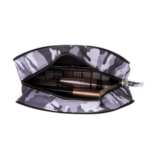 PLM Betty Makyaj Çantası-Kamuflaj Siyah